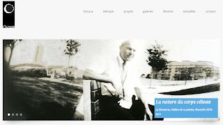 Capture d'écran de l'accueil du site internet d'Oscura
