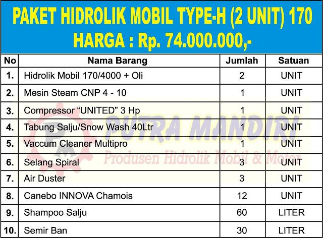 PAKET HIDROLIK MOBIL TYPE-H (2 UNIT) 170