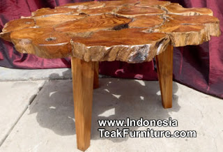 Teak root log wood furniture coffee tables from Bali Indonesia