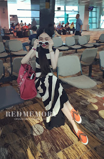 Long Dress Cantik Korea Model