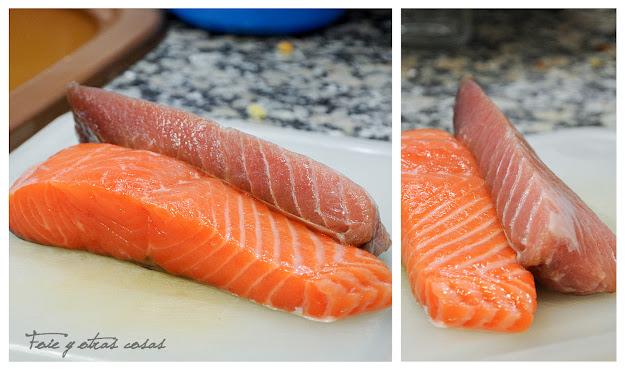 Salmón y ventresca de atún