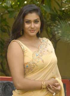 Namitha wearing a yellow saree