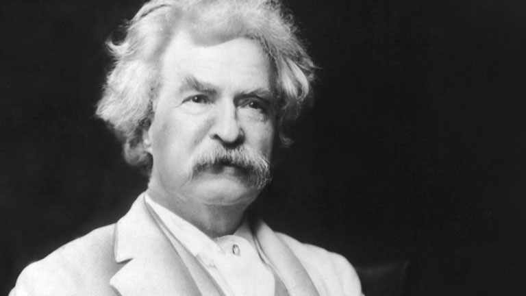 MARK TWAIN (1835-1910)  AUTHOR- HUMORIST