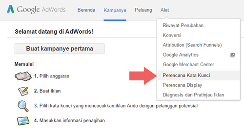 optimasi keyword dengan keyword keyplanner