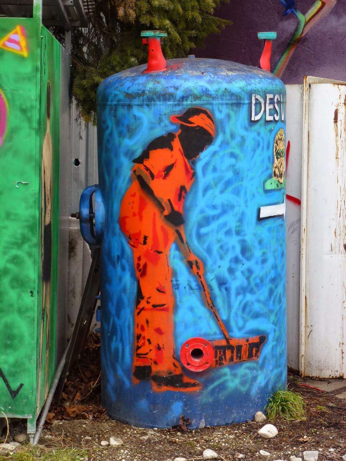Graffiti, Stencil, Streetart
