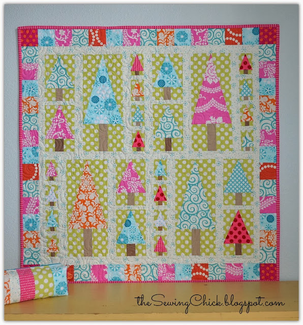 candy colored quilt using amanda murphy modern holiday