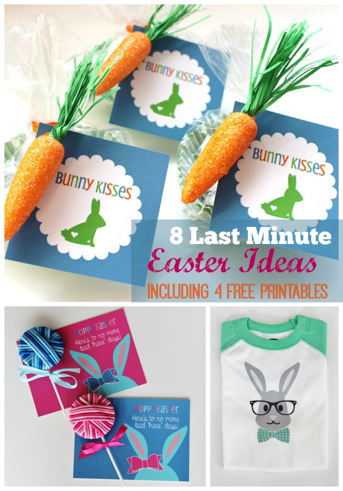 8 Last Minute Easter Ideas for Kids Including 4 Free Printables