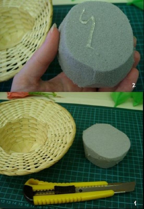 Как сделать губку для букета