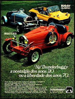 propaganda Thunderbuggy - 1975. brazilian advertising cars in the 70. os anos 70. história da década de 70; Brazil in the 70s; propaganda carros anos 70; Oswaldo Hernandez;