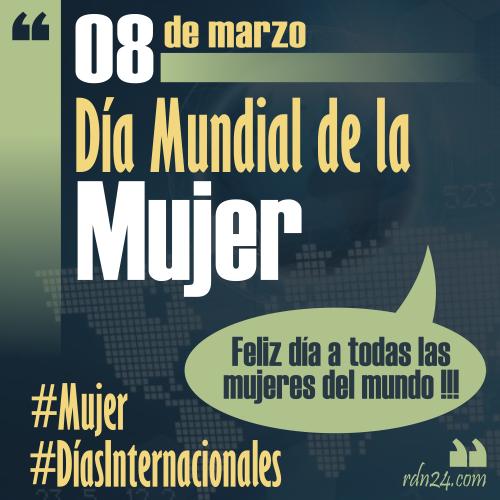 8 de marzo – Día Internacional de la Mujer #DíasInternacionales