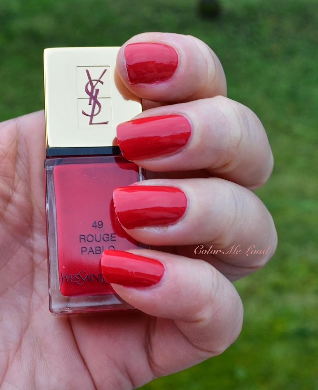 Yves Saint Laurent La Laque Couture #48 Rose Scabiosa, #49