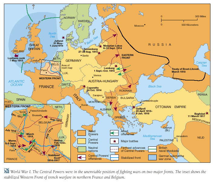 Today in social sciences april 2012 world war i stages of the war gumiabroncs Choice Image