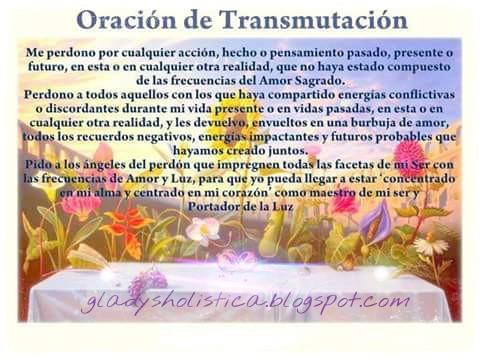 Oración de transmutación