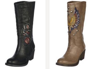 Botas de piel en color marrón o negro