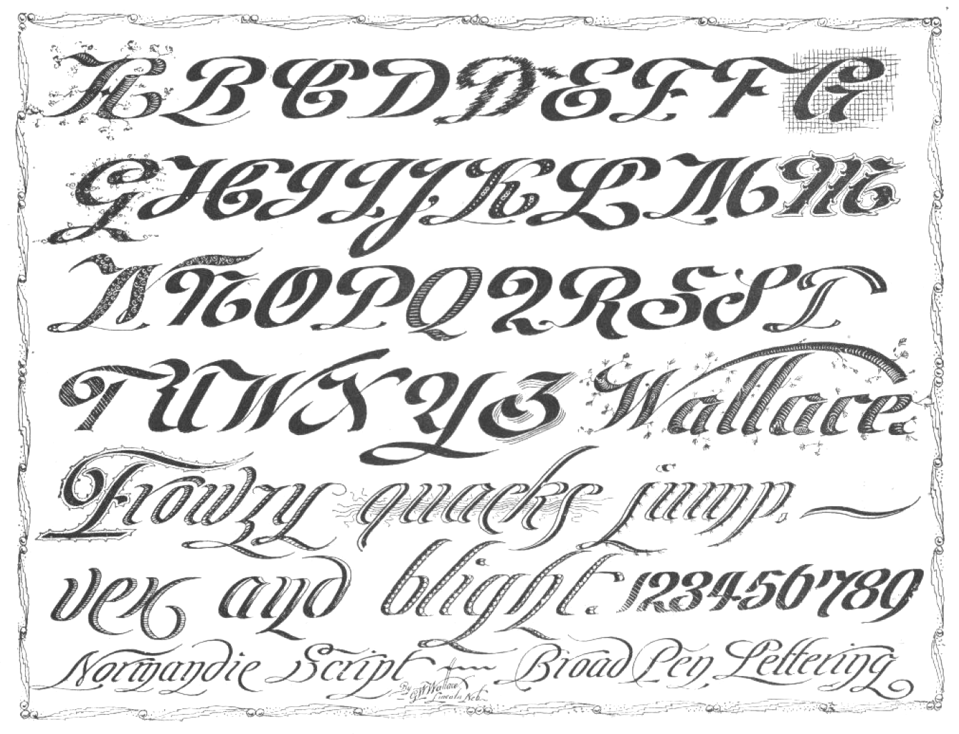 Spoodawgmusic French Calligraphy Alphabet