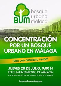Concentración por un Bosque Urbano para Málaga