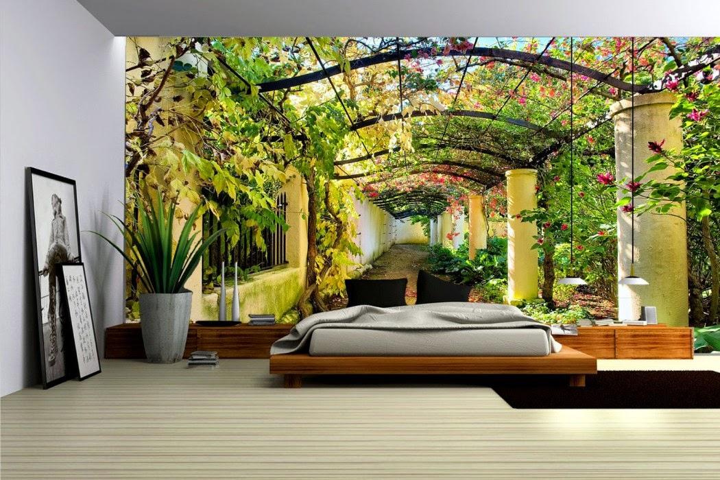 Dormitorios con murales dormitorios colores y estilos for Papel de pared para dormitorio