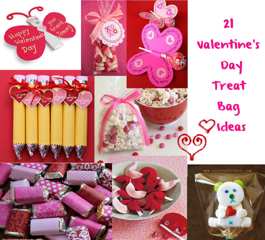 Cute food for kids valentine 39 s day treat bag ideas for Valentines day trip ideas
