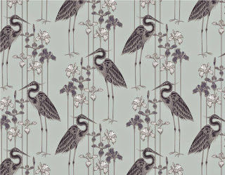 Judit Gueth Great Blue Heron Wallpaper in Midnight Marsh