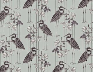Judit Gueth Great Blue Heron Wallpaper in Midnight Marsh