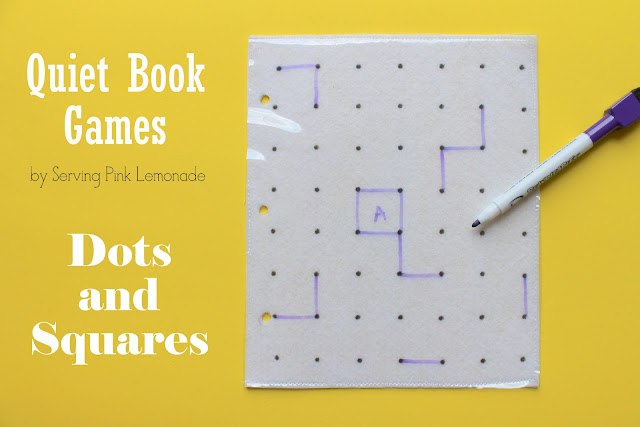 Serving Pink Lemonade: Quiet Book Games Part 5: Dots And Squares