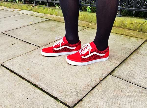 Red Leopard Old Skool Shoes decea7a8b