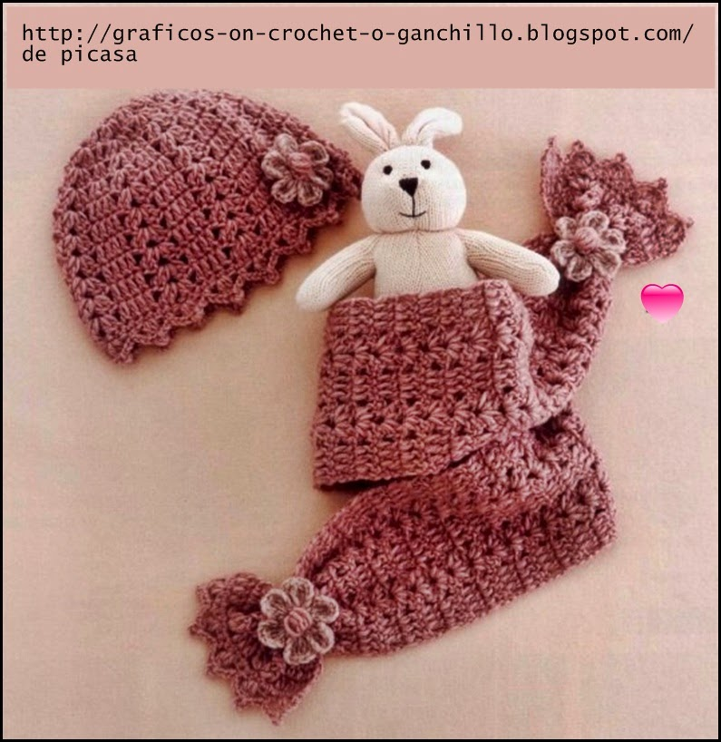 Crochet fabric crochet ganchillo patrones graficos - Gorritos bebe ganchillo ...