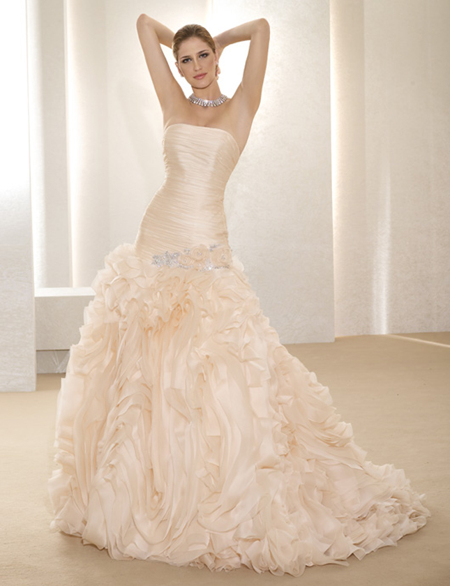Images Of Blush Wedding Dresses : Wedding trends blush dresses belle the magazine