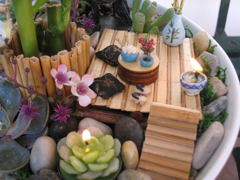 112 mini jardim japones em vasosJardim Japonês feito em vaso de