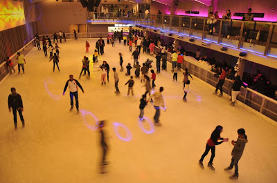 photo of iskate ice skating rink in new delhi gurgaon area