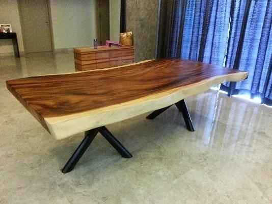 arquitetando na net mesa de sala de jantar em madeira de demoli o. Black Bedroom Furniture Sets. Home Design Ideas