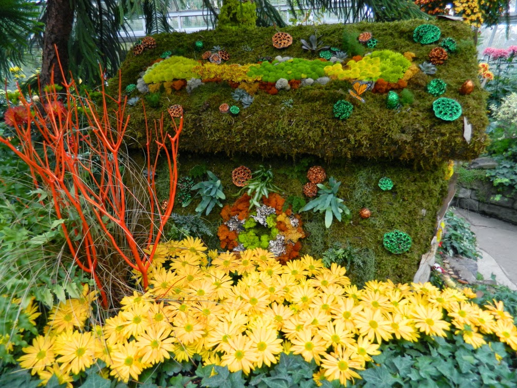 Allan Gardens Conservatory Fall Chrysanthemum Show 2014 Fairy House walls by garden muses-not another Toronto gardening blog