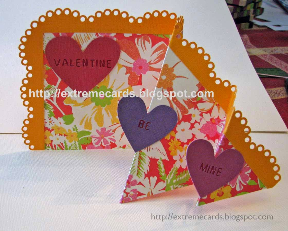 open valentine card with conversation hearts