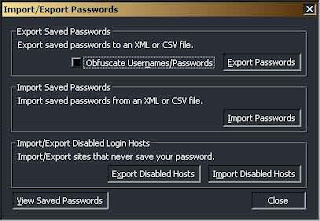 Backup N restore Password Firefox 1