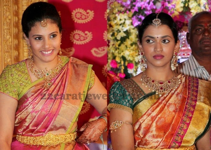 Brocade Blouses with Wedding Sarees