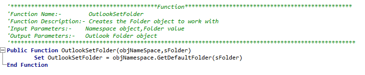 GetDefaultFolder method of Outlook