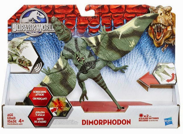 JUGUETES - JURASSIC WORLD : Jurassic Park  Dimorphodon | Dinosaurio | Figura - Muñeco  Producto Oficial Película 2015 | Hasbro B1635 | A partir de 4 años