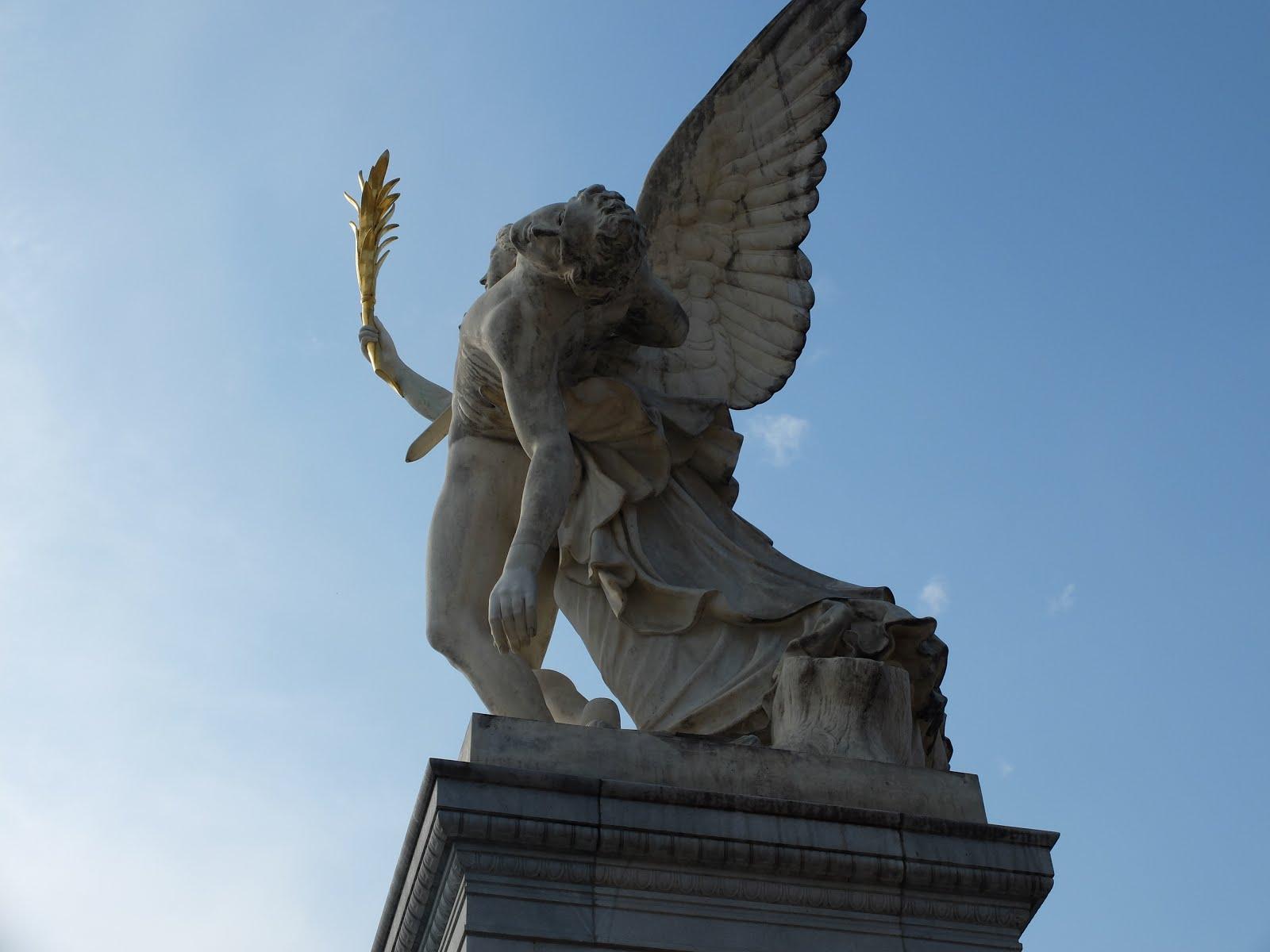 Skulptur sterbender Krieger