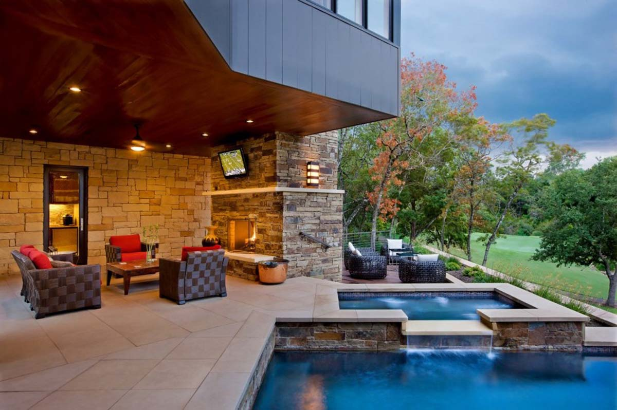 Dream house design on the hill westlake drive house by james d larue architects - House with swimming pool design ...