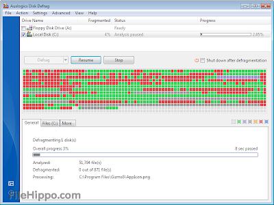 Auslogics Disk Defrag 4.1.0.0 Free Download