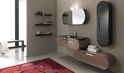 Modern Rounded Bathroom Furniture