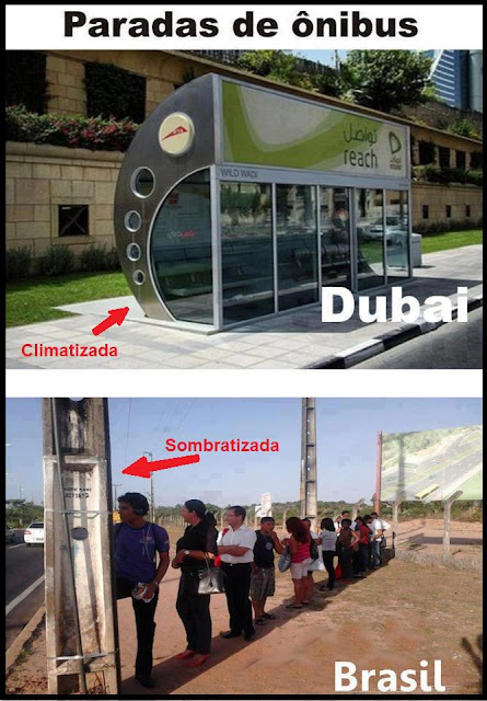 Ponto de ônibus climatizado e ombratizado Superinteressante