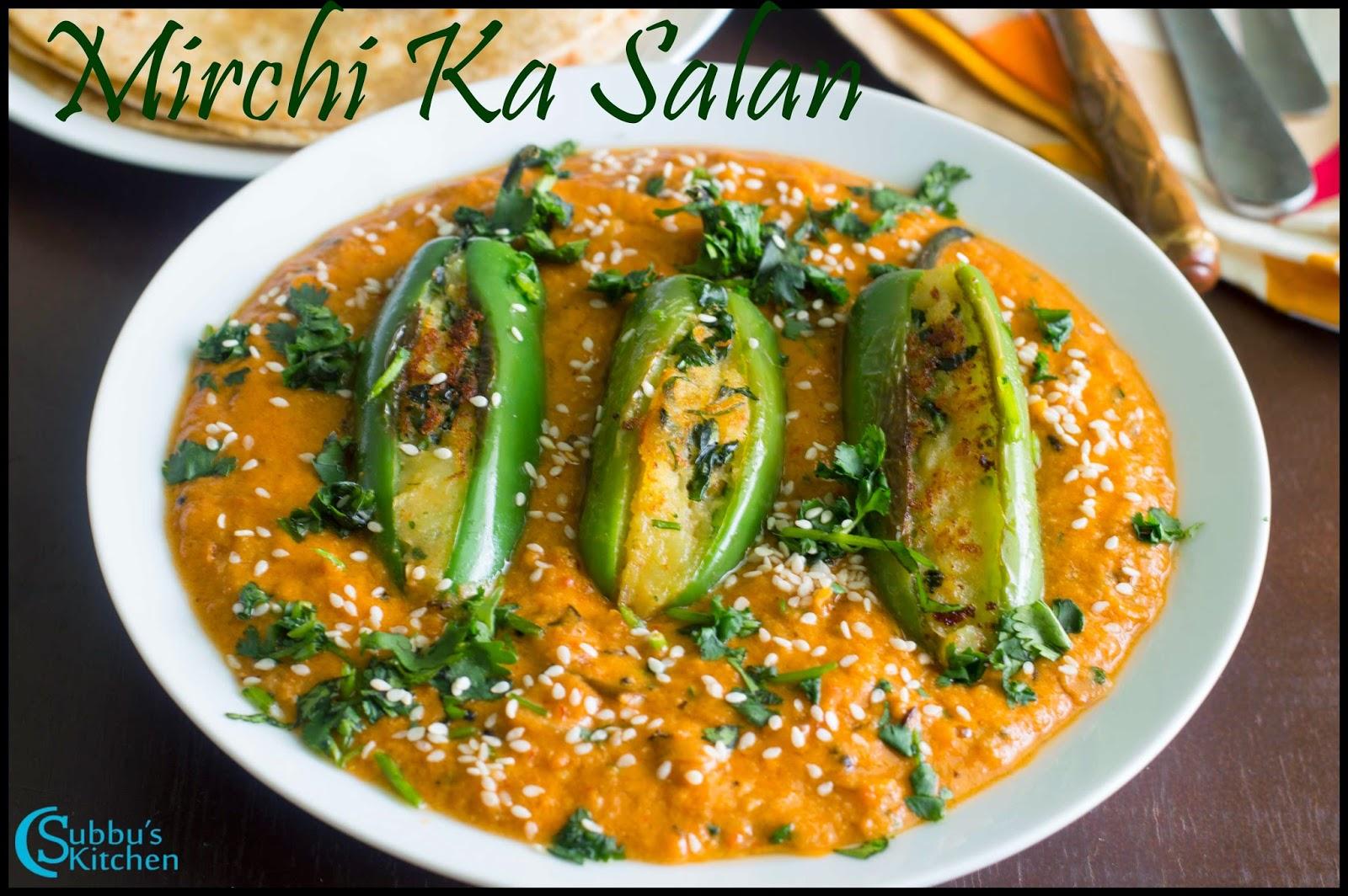 Mirchi Ka Salan Recipe | Stuffed Spicy Jalapeno Curry Recipe