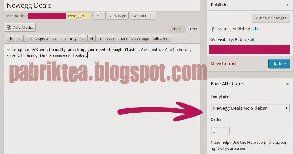 PHP Newegg Deals Untuk Page Wordpress