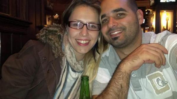 Andrea González y su novio, Dany Abreu | Foto cortesía