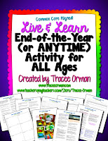 Live & Learn End of the Year (or Anytime) Activity for All Ages Freebie