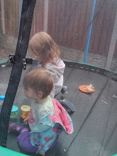 lunch on trampoline