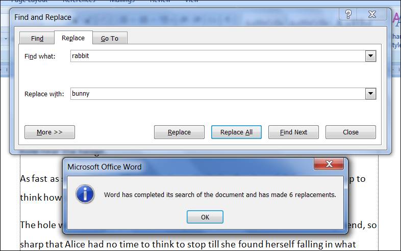 FIND AND REPLACE TEXT - MS Word 2007 Tutorial.