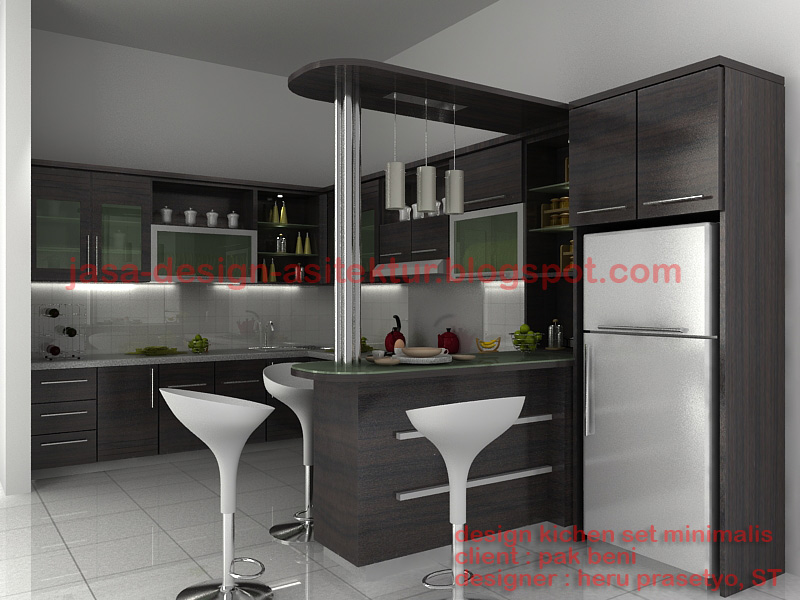 New home design 2011 modern kitchen set design for Kitchen set warna putih