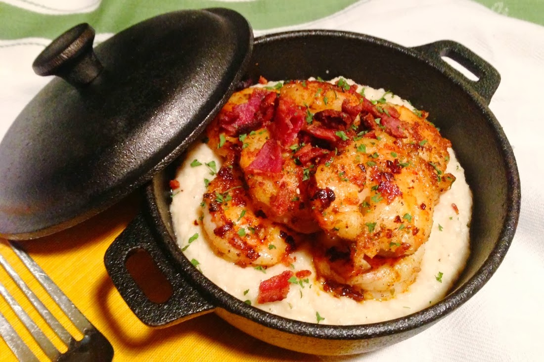 Paleo Cajun Shrimp and Cauliflower Grits Recipe